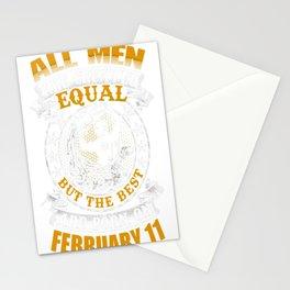 Best-Men-Are-Born-On-February-11-Aquarius-Shirt---Sao-chép---Sao-chép Stationery Cards