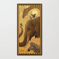 africa Canvas Prints featuring Africa by Miguel Co