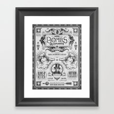Legend of Zelda Bomb Advertisement Poster Framed Art Print