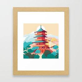 Japanese Castle Framed Art Print