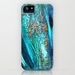 Doodle in blue iPhone Case