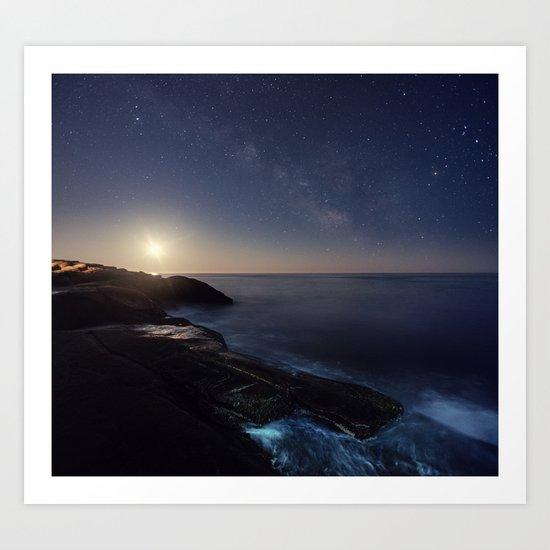 Milky Way Seas Art Print