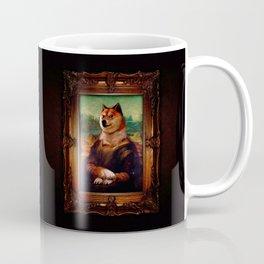 Doge Mona Lisa Fine Art Shibe Meme Painting Coffee Mug