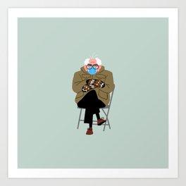 Bernie's Mittens Art Print