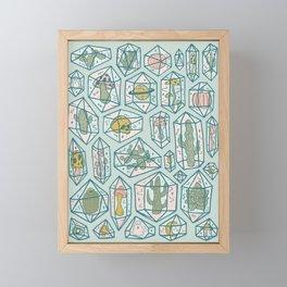 Crystals and Plants Framed Mini Art Print