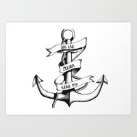 Let the Ocean Take Me Art Print
