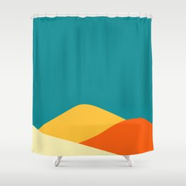 Abstract landscape. Shower Curtain