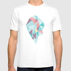 Facet vector II White MEDIUM Mens Fitted Tee