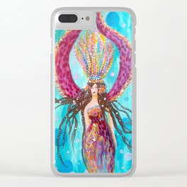Pisces Moon Clear iPhone Case