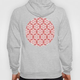 Ship's Wheel Pattern over Red Hoody