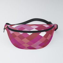 Lesbian Pride Pixelated Angled Squares Fanny Pack