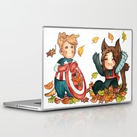 bucky Laptop & iPad Skins featuring fall - bucky by noCek