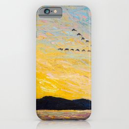 Tom Thomson - Round Lake, Mud Bay  - Canada, Canadian Oil Painting - Group of Seven iPhone Case