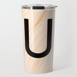 Scrabble Letter U - Large Scrabble Tiles Travel Mug
