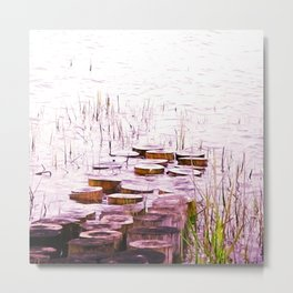 PURPLE WOOD GNOMES Metal Print