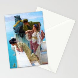 12,000pixel-500dpi - Lawrence Alma-Tadema - A Coign Of Vantage - Digital Remastered Edition Stationery Cards