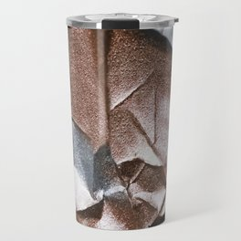 Rose Gold and Silver Abstract Travel Mug
