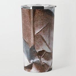 Rose Gold and Silver Abstract Travel Mug