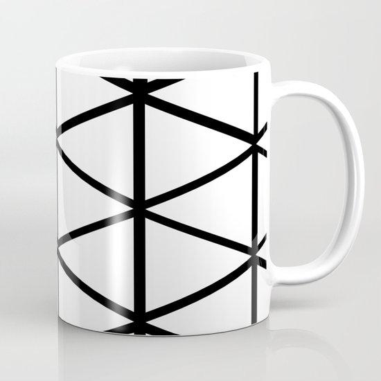 WHITE & BLACK TRIANGLES  Mug