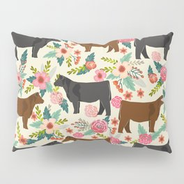 Angus cattle farm friendly gifts perfect for homesteader homestead lover Pillow Sham