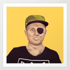 The Israeli Hipster leaders - Moshe Dayan Art Print