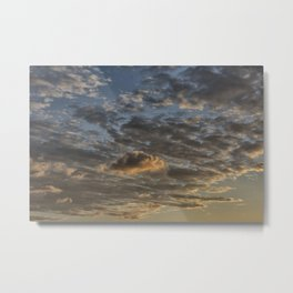 CLOUDS AT THE SUNSET Metal Print