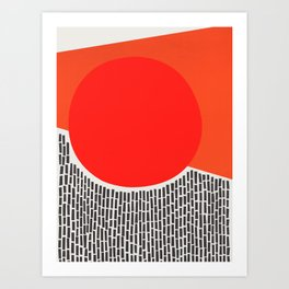 Sunshine And Rain Abstract Art Print