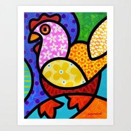 Spring Chicken Art Print