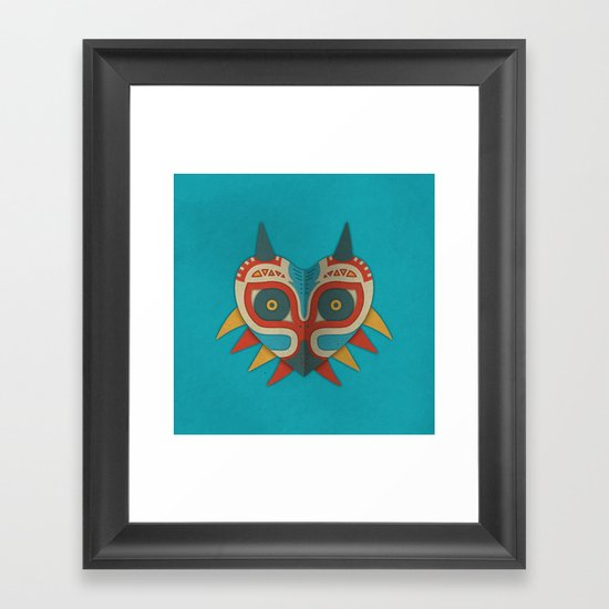 A Legendary Mask Framed Art Print