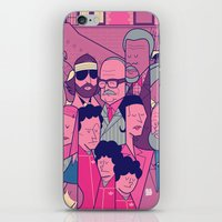 royal tenenbaums iPhone & iPod Skins featuring The Royal Tenenbaums by Ale Giorgini