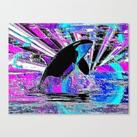 orca Canvas Prints featuring Orca by JT Digital Art