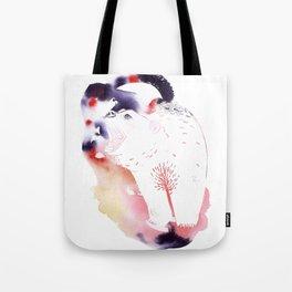 Polar Bear Love Print Tote Bag