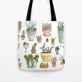 Potted Succulents Tote Bag