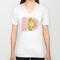 you are my sunshine V-neck T-shirts featuring You Are My Sunshine by Gigglebox