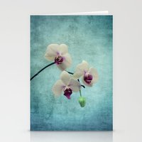 orchid Stationery Cards featuring Orchid by KunstFabrik_StaticMovement Manu Jobst