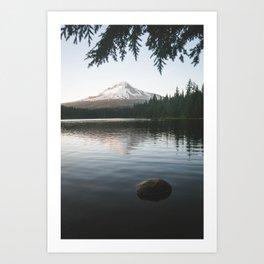 Trillium Lake Art Print