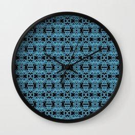 Blue Gothic Geometric Lace Wall Clock