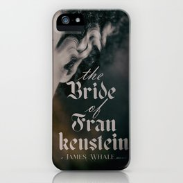 The Bride of Frankenstein, vintage movie poster, Boris Karloff cult horror iPhone Case