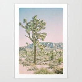 Joshua Tree Ombre Art Print
