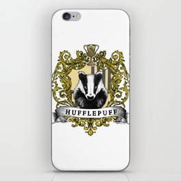 Hufflepuff Color Crest iPhone Skin