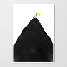 Man & Nature - To The Top Canvas Print