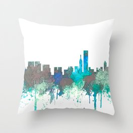 Chicago, Illinois Skyline - SG Jungle Throw Pillow