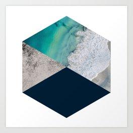 Geometric Ocean inspired Art Art Print