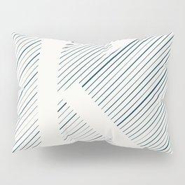 Striped K Pillow Sham