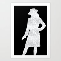 agent carter Art Prints featuring Agent Carter by Kaitlin Andesign