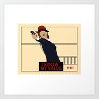 agent carter Art Prints featuring Agent Carter  by amyskhaleesi