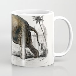 Asiatic elephant (Elephas maximus) indicus illustrated by Charles Dessalines D' Orbigny (1806-1876) Coffee Mug