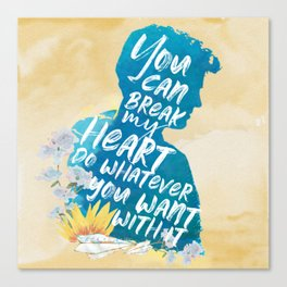 peter kavinsky - to all the boys i've loved before Canvas Print