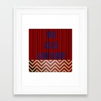 laura palmer Framed Art Prints featuring Who Killed Laura Palmer? by KP Designs
