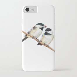 Black Capped Chickadees iPhone Case